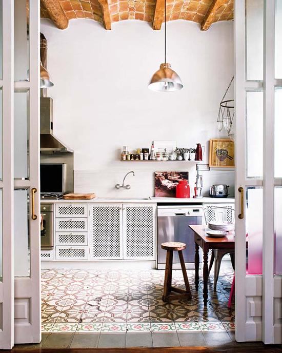 Encaustic Cement Tile Gallerycement Tile In The Kitchen 2